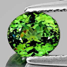1.08 cts Oval 7x6 mm AAA Fire AAA Premium Green Demantoid Natural (VVS)--FREE CERTIFICATE