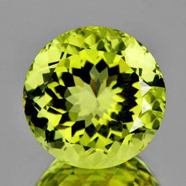 8.00 mm {1.98 cts } Round Brilliant Cut Best AAA Fire AAA Green Gold Lemon Quartz Natural {Flawless-VVS}