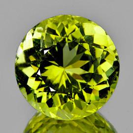 9.00 mm {2.80 cts } Round Brilliant Cut Best AAA Fire AAA Green Gold Lemon Quartz Natural {Flawless-VVS}