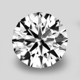 4.30 mm {0.29 cts} Round Color F-G Extreme Brilliancy Natural White Diamond--AAA Grade