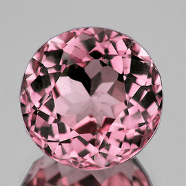 6.50 mm Semi Round {1.28 cts} AAA Fire Padparadscha Pink Tourmaline Natural {Flawless-VVS}