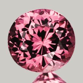 7.0x6.8 mm {1.33 cts } Semi Round Best AAA Fire AAA Pink Tourmaline Natural {VVS}