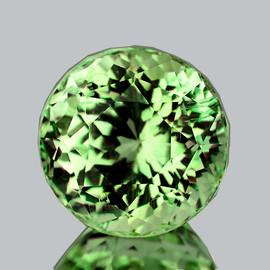 6.30 mm {1.09 cts} Round Brilliant Cut Best AAA Fire Vivid Green Tourmaline Natural Mozambique {VVS}--AAA Grade