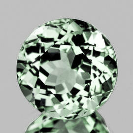 7.50 mm {1.55 cts} Round AAA Fire Mozambique Green Tourmaline Natural {Flawless-VVS}