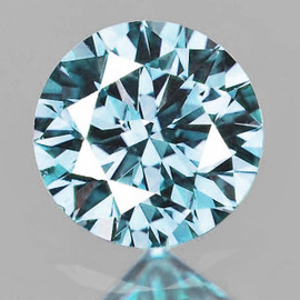 5.70 mm Round Diamond Cut Extreme Brilliancy Fire Natural Blue Zircon {Flawless-VVS1)