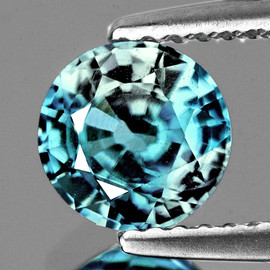 5.70 mm {1.20 cts} Round AAA Fire Natural Blue Zircon {Flawless-VVS}