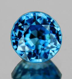 5.50 mm Round AAA Fire Intense AAA Blue Zircon Natural {Flawless-VVS1)-AAA Grade