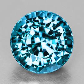 6.50 mm {1.53 cts} Round Best AAA Fire AAA Seafoam Blue Zircon Natural{Flawless-VVS1}--AAA Grade