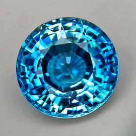 7.50 mm {2.90 cts} Round Best AAA Fire AAA Blue Zircon Natural{Flawless-VVS1}--AAA Grade