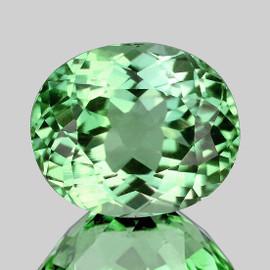 8x6 mm Oval {1.33 cts} AAA Fire AAA Vivid Green Tourmaline Natural Mozambique {Flawless-VVS1}--AAA Grade