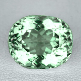 8x6 mm Oval {1.61 cts} AAA Fire Vivid Green Tourmaline Natural Mozambique {Flawless-VVS}