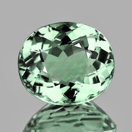 8.5x7 mm Oval {2.12 cts} AAA Fire Mint Green Tourmaline Natural Mozambique {VVS}