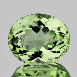 9.5x8 mm Oval {2.25 cts} AAA Fire Mozambique Green Tourmaline Natural {Flawless-VVS}