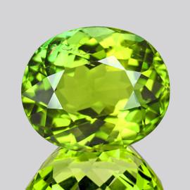 8.5x7.5 mm Oval {2.40 cts} AAA Fire Intense Vivid Green Tourmaline Natural Mozambique {VVS}--AAA Grade