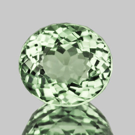 8.5x7.5 mm Oval {2.68 cts} AAA Fire Mozambique Green Tourmaline Natural {Flawless-VVS}