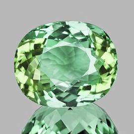9.5x7.5 mm Oval {2.48 cts} AAA Fire Vivid Green Tourmaline Natural Mozambique {Flawless-VVS}--AAA Grade
