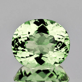 9x7.5 mm Oval {2.48 cts} AAA Fire Mozambique Green Tourmaline Natural {Flawless-VVS}