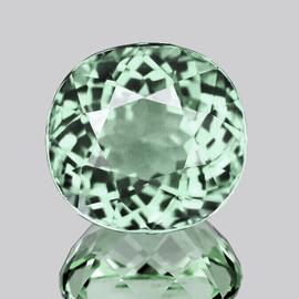 8.00 mm Cushion {2.32 cts} AAA Fire Vivid Green Tourmaline Natural {Flawless-VVS}--AAA Grade