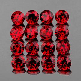 2.80 mm 30 pcs Round AAA Fire Red Mozambique Garnet Natural {Flawless-VVS1}