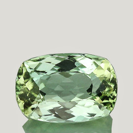 8x5.5 mm {1.41 cts} Cushion AAA Fire Mint Green Tourmaline Natural {Flawless-VVS}