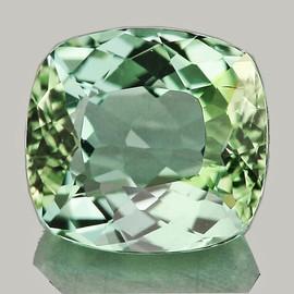 7.5x6.5mm {1.80 cts} Cushion AAA Fire Mint Green Tourmaline Natural {Flawless-VVS}