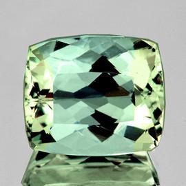 8x6.5mm {1.89 cts} Cushion AAA Fire Vivid Green Tourmaline Natural {Flawless-VVS}