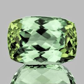 9x6mm {1.91 cts} Cushion AAA Fire Vivid Green Tourmaline Natural {Flawless-VVS}