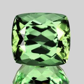 7.00 mm {1.91 cts} Cushion AAA Fire AAA Vivid Green Tourmaline Natural {Flawless-VVS}--AAA grade