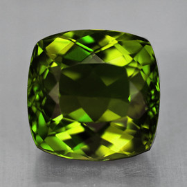 8.00mm {2.20 cts } Cushion AAA Fire Forest Green Tourmaline Natural {Flawless-VVS}