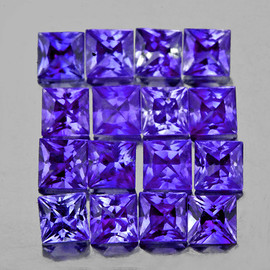 3.00 mm 16 pcs Square Princess Cut AAA Fire AAA Bluish Violet Iolite Natural {Flawless-VVS}