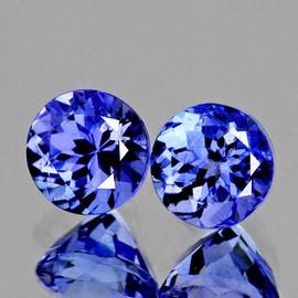 3.60 mm 2 pcs Round AAA Fire Intense Purple Blue Tanzanite Natural {Flawless-VVS1}