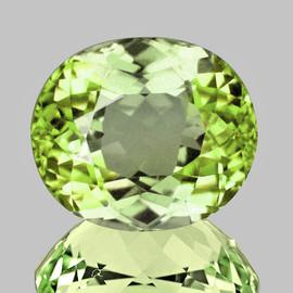 8x7 mm {1.97 cts} Oval AAA Fire Lemon Green Tourmaline Natural Mozambique {Flawless-VVS}