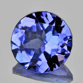 4.80 mm {0.45 cts} Round AAA Fire Purple Blue Tanzanite Natural {Flawless-VVS1}