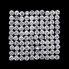 1.00 mm 100 pcs Round Brilliant Machine Cut AAA Diamond White Zircon Natural {Flawless-VVS1}