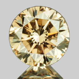 3.50 mm {0.17 cts} Round Brilliant Cut AAA Fire Bright Champagne Diamond Natural{VVS}