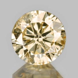 3.30 mm {0.14 cts} Round Brilliant Cut AAA Fire Bright Champagne Diamond Natural