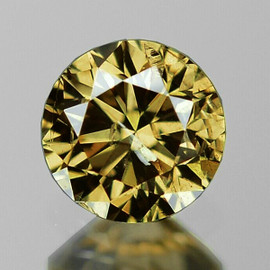 4.00 mm {0.27 cts} Round Brilliant Cut AAA Fire Vivid Golden Champagne Diamond Natural
