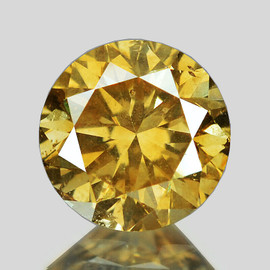 4.30 mm {0.34 cts} Round Brilliant Cut AAA Fire Vivid Golden Champagne Diamond Natural