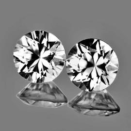 4.50 mm 2 pcs Round Brilliant Cut AAA Fire Diamond White Zircon Natural {Flawless-VVS1}