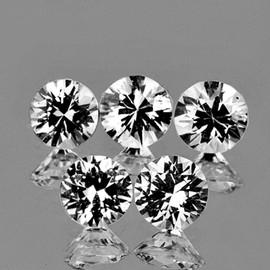 3.70 mm 5 pcs Round Brilliant Cut AAA Fire Diamond White Zircon Natural {Flawless-VVS1}