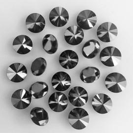 1.50 mm 12 pcs Round Diamond Cut Natural Black Diamond