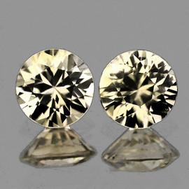 2.00 mm 2 pcs Round ฺBrilliant Cut Bright Champagne Diamond  (C1-C2) Natural