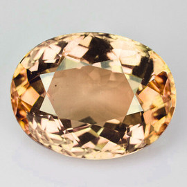 9x7 mm { 2.50 cts} Oval AAA Fire Champagne Yellow Tourmaline Mozambique Natural {Flawless-VVS}