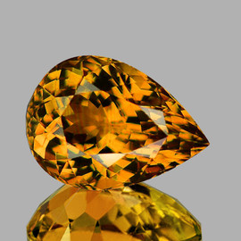 10x7mm {1.96 cts} Pear AAA Fire AAA Golden Yellow Tourmaline From Mozambique Natural {Flawless-VVS1}--AAA Grade