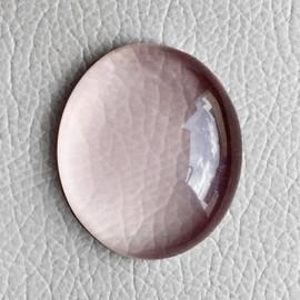 26.81 cts Oval Cabochon 23x19 mm Natural Pink Rose Quartz {Flawless-VVS}