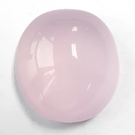 59.86 cts Oval Cabochon 26x24 mm Natural Pink Rose Quartz {Flawless-VVS}