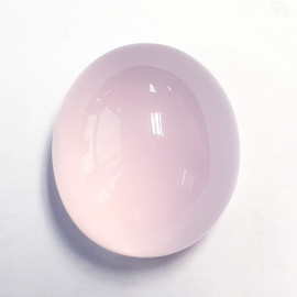 66.44 cts Oval Cabochon 27x25 mm Natural Pink Rose Quartz {Flawless-VVS}