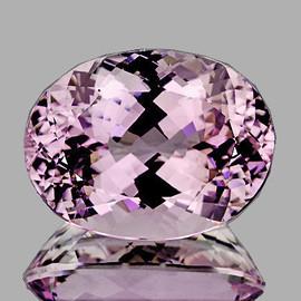 16x12 mm { 14.46 cts} Oval Brilliant Cut Best AAA Fire Natural Top Pink Kunzite (Flawless-VVS)