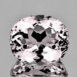 16x14 mm { 13.07 cts} Oval Brilliant Cut Best AAA Fire Natural Light  Pink Kunzite (Flawless-VVS)