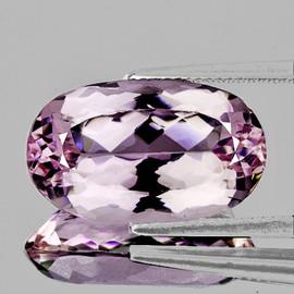 22x13 mm { 20.83 cts} Oval Brilliant Cut Best AAA Fire Natural Soft Pink Kunzite (Flawless-VVS)